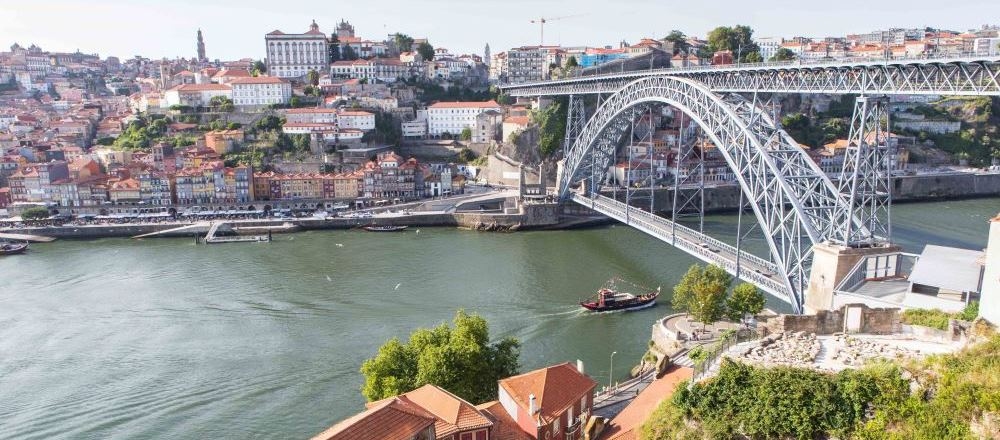 View on porto and the river douro