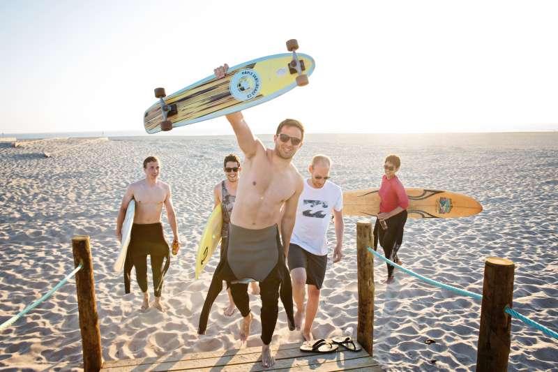 Beach Friends Sunset Smile