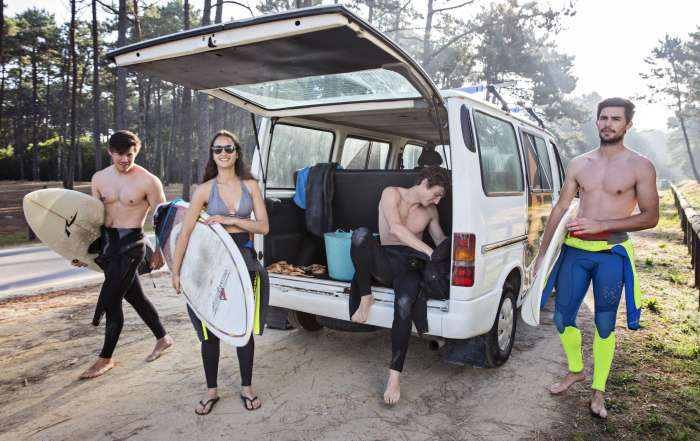 Van Trip Maceda Surfboard Friends