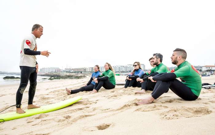 Surf Coach Bruno Novice Lesson Porto