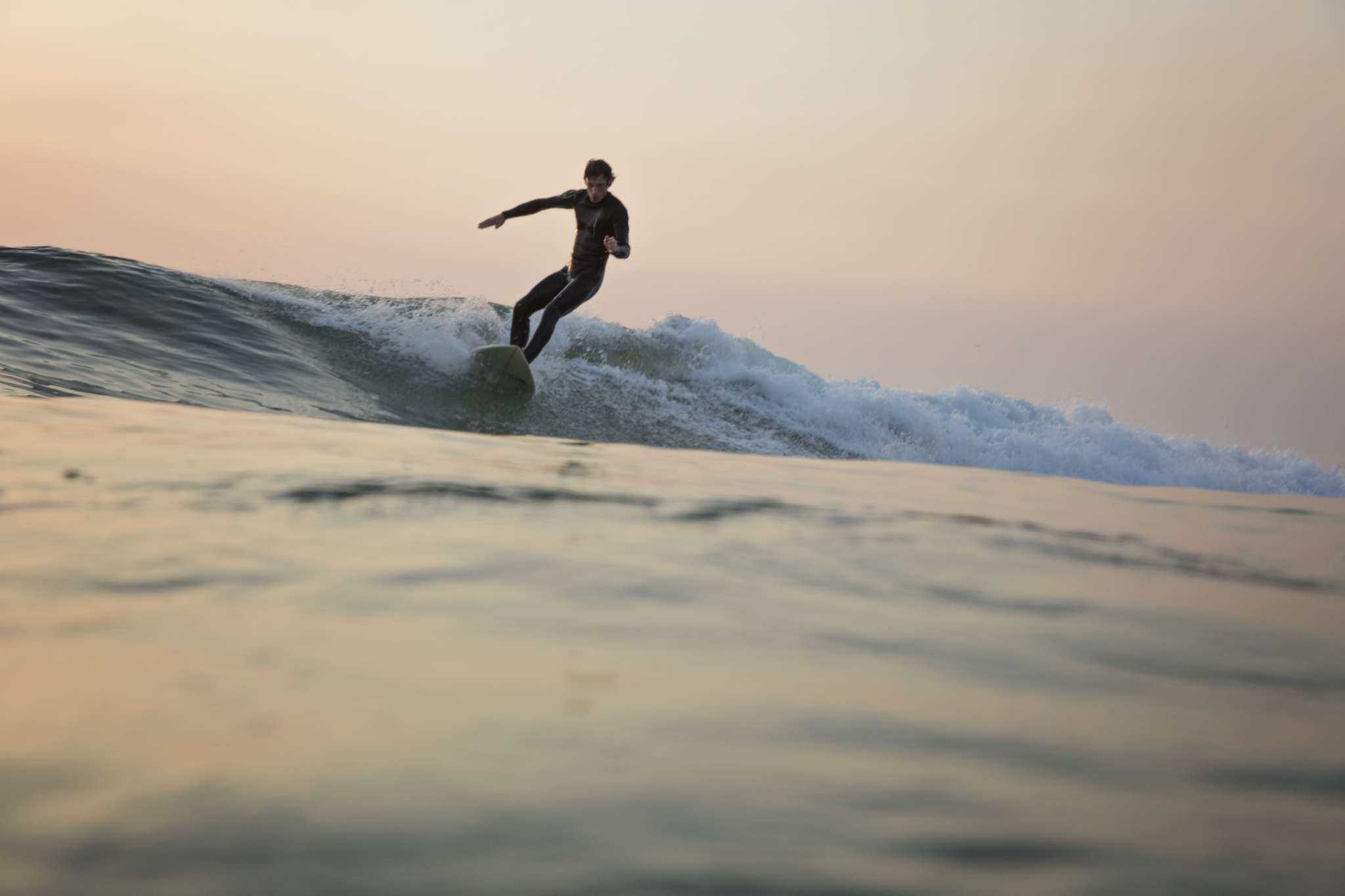 Wave Water Surfer Sunset