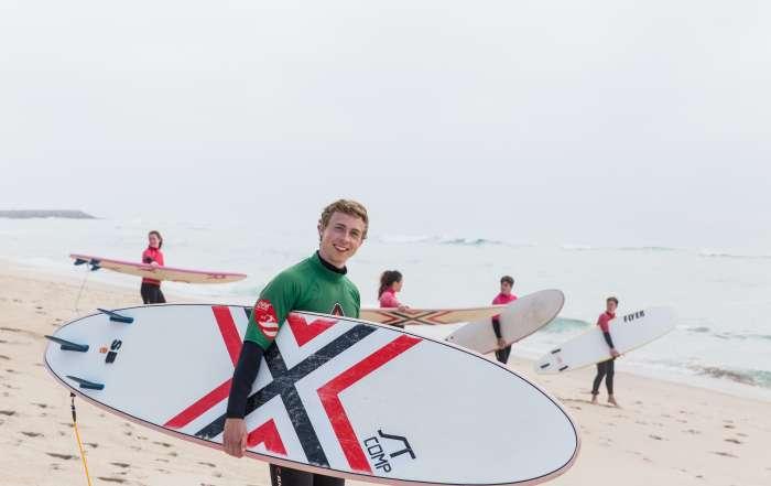 Beach Green Novice Surfer