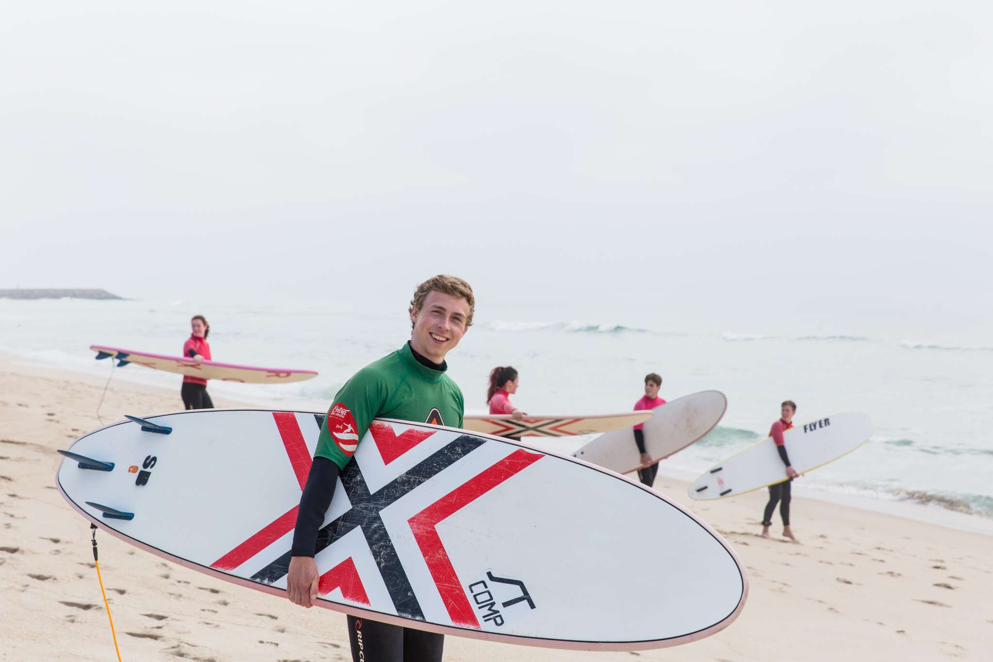 Beach Green Novice Surfer