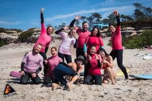 Beginner Group Beach Smile